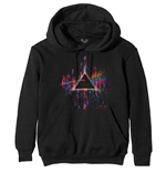 Pink Floyd Unisex Pullover Hoodie: Dark Side of the Moon Pink Splatter