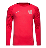 2018-2019 Barcelona Nike Long Sleeve Training Shirt (Tropical Pink) - Kids