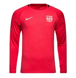 2018-2019 Barcelona Nike Long Sleeve Training Shirt (Tropical Pink)