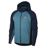 2018-2019 Chelsea Nike Techfleece Authentic Hoody (Obsidian)