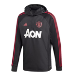 2018-2019 Man Utd Adidas Warm Top (Black)