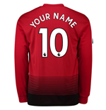 2018-2019 Man Utd Adidas Home Long Sleeve Shirt (Your Name) -Kids