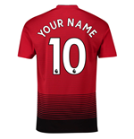 2018-2019 Man Utd Adidas Home Football Shirt (Your Name) -Kids