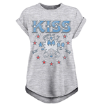 Kiss - Spirit Of 76 - Unisex Ladies Rolled Sleeve Tee Grey