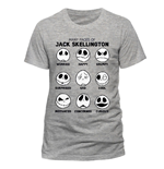 Nightmare before Christmas T-Shirt Many Faces of Jack