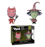 Nightmare Before Christmas VYNL Vinyl Figures 2-Pack Lock & Shock 10 cm