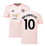 2018-2019 Man Utd Adidas Away Football Shirt (Ibrahimovic 10)