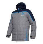 2018-2019 Scotland Macron Rugby Travel Long Puffa Jacket (Charcoal)