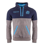 2018-2019 Scotland Macron Rugby Travel Heavy Cotton Hoody (Grey)