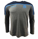 2018-2019 Scotland Macron Rugby Long Sleeve Travel Polycotton T-Shirt (Charcoal)