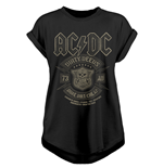 AC/DC - Done Cheap - Unisex Ladies Rolled Sleeve Tee Black