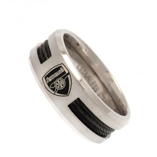 Arsenal F.C. Black Inlay Ring Large CR