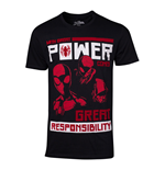 MARVEL COMICS Spider-Man Power vs. Responsibility T-Shirt, Male, Extra Extra Large, Black
