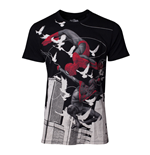MARVEL COMICS Spider-Man Miles Morales Print T-Shirt, Male, Large, Black