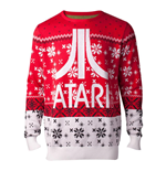 ATARI Logo Christmas Knitted Sweater, Male, Medium, Multi-colour