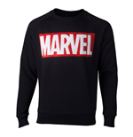 MARVEL COMICS Chenille Logo Sweater, Male, Extra Extra Large, Black