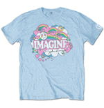 John Lennon Men's Tee: Rainbows, Love & Peace
