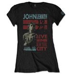 John Lennon Ladies Tee: Live in NYC
