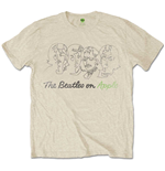 The Beatles Men's Tee: Outline Faces on Apple