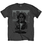 John Lennon Men's Tee: Denim Skyline