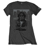 John Lennon Ladies Tee: Denim Skyline
