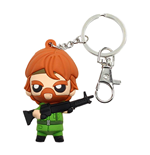 Chuck Norris Pokis Rubber Keychain Missing in Action 6 cm