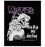 Misfits Standard Patch: Die Die my Darling (Loose)