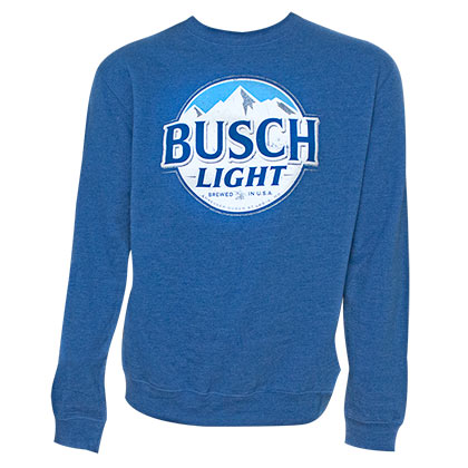 BUSCH Light Classic Logo Royal Blue Crewneck Sweatshirt