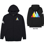 Imagine Dragons Men's Zipped Hoodie: Triangle (Back Print)