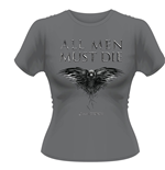 Game of Thrones: All Men Must Die Women's Grey T-shirt