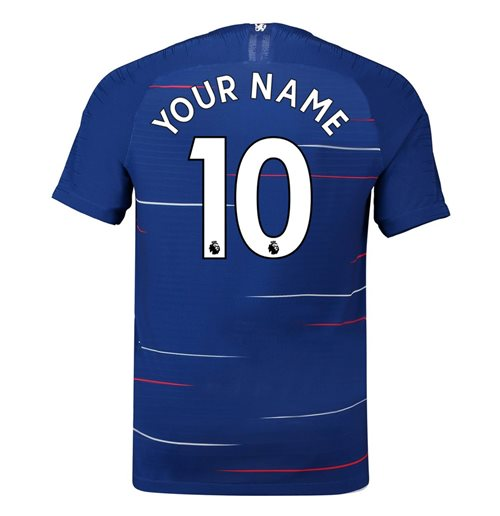 2018-2019 Chelsea Nike Vapor Home Match Shirt (Your Name) -Kids
