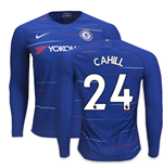 2018-2019 Chelsea Home Nike Long Sleeve Shirt (Cahill 24)