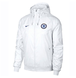 2018-2019 Chelsea Nike Authentic Windrunner Jacket (White)