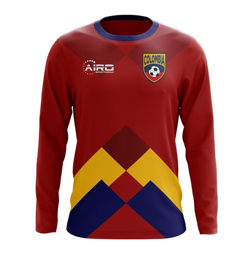 2018-2019 Colombia Long Sleeve Away Concept Football Shirt (Kids)