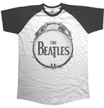 The Beatles T-shirt: Raglan Baseball Original Vintage Drum (Unisex)