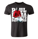 Paul Pogba Manchester United Player T-Shirt (Black) - Kids