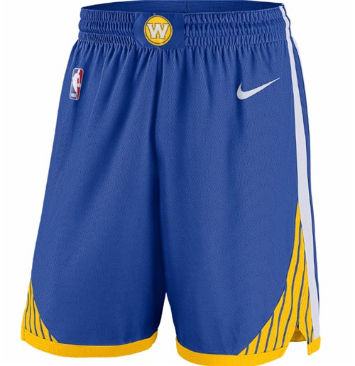 Men's Golden State Warriors Nike Royal Icon Edition Swingman Shorts