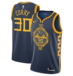 Men's Golden State Warriors Stephen Curry Nike Navy City Edition Swingman Jersey