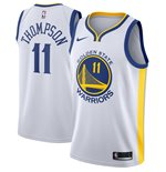 Men's Golden State Warriors Klay Thompson Nike White Association Edition Swingman Jersey