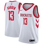 Men's Houston Rockets James Harden Nike White Association Edition Swingman Jersey
