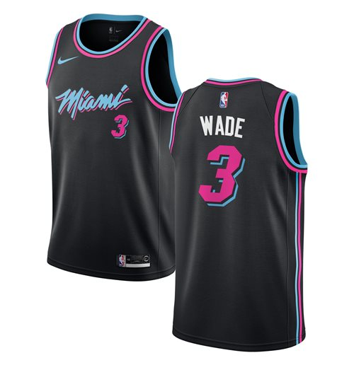 Men's Miami Heat Dwyane Wade Nike Black City Edition Swingman Jersey