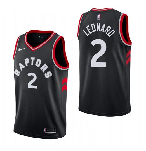 Men's Toronto Raptors Kawhi Leonard Nike Black Statement Edition Swingman Jersey