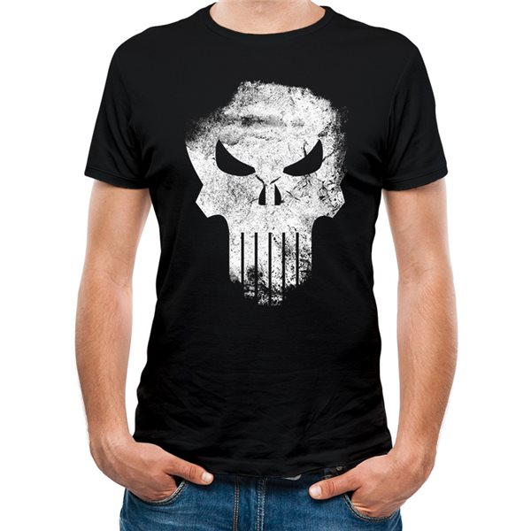 THE PUNISHER Distressed Skull T-Shirt