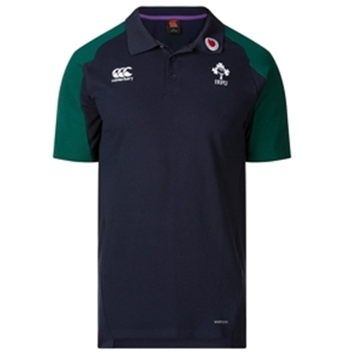 Ireland Vapordi Rugby Polo Shirt Blu/Green