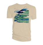 Doctor Who Men's Tee: Tardis Mountains Stone Blue