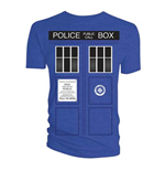 Doctor Who Ladies Tee: Tardis Doors Black Window