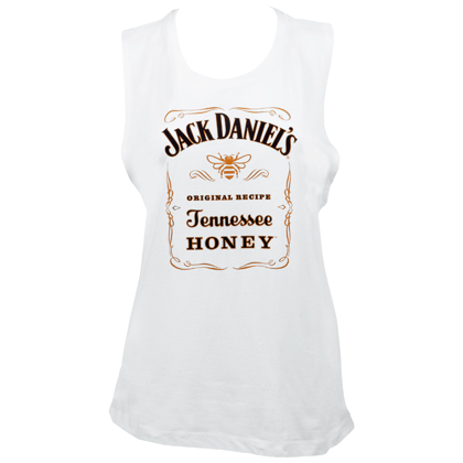 JACK DANIELS Tennessee Honey Women's Muscle Tank Top