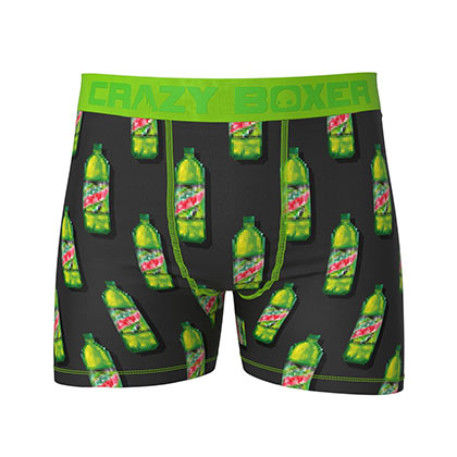 Mountain Dew Branded Bottles Boxer Briefs
