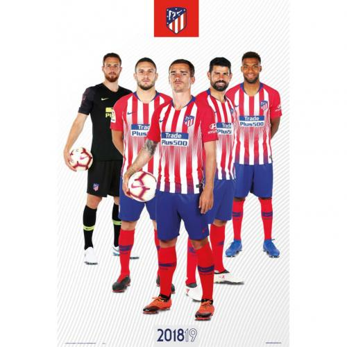 Atletico Madrid F.C. Poster Players 65