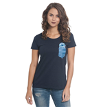 Lilo & Stitch Ladies T-Shirt Pocket Stitch